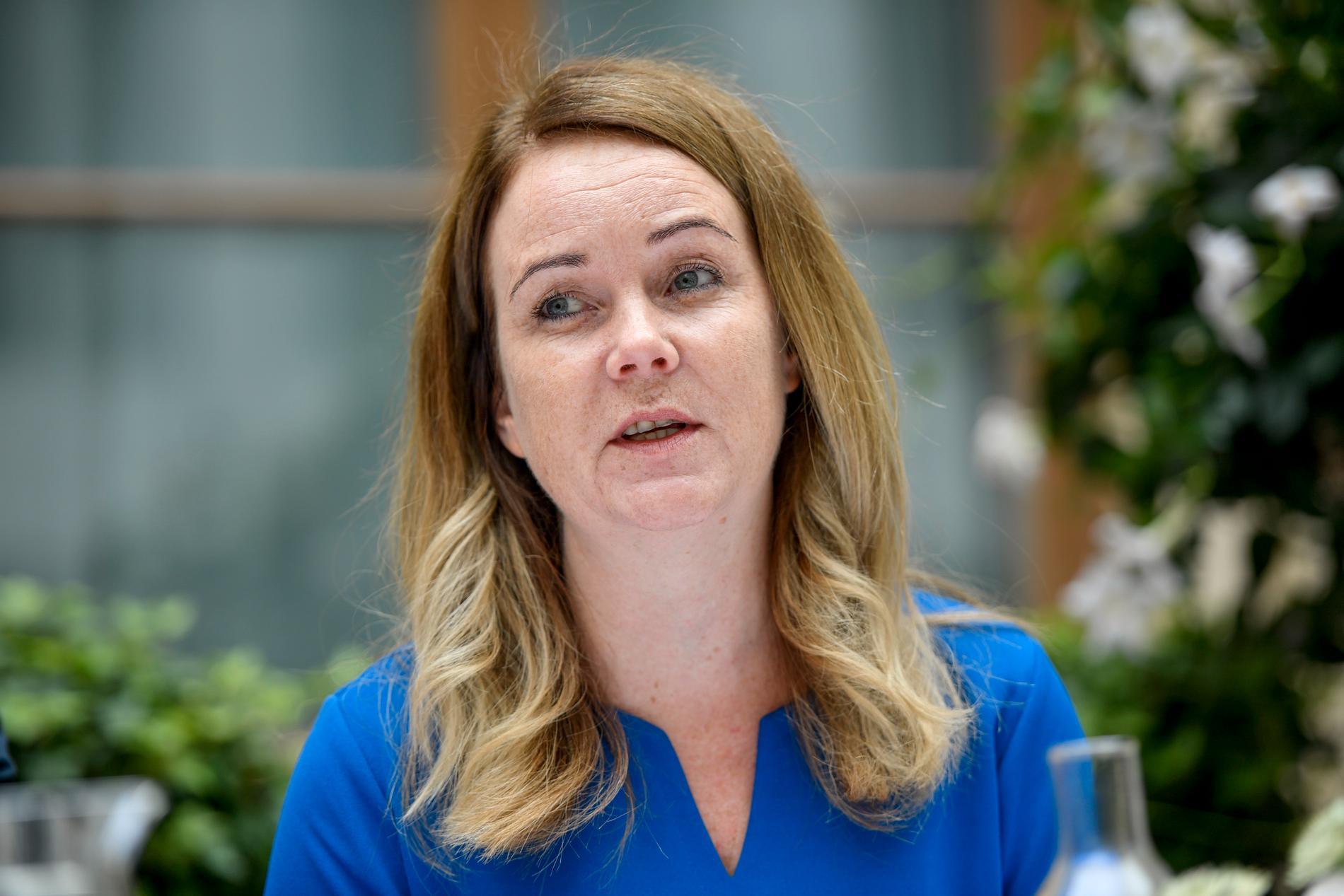 Landsbygdsminister Jennie Nilsson (S) vill städa upp i Jordbruksverkets ekonomiska hantering, bland annat efter en prognosmiss på 900 miljoner. Arkivbild.