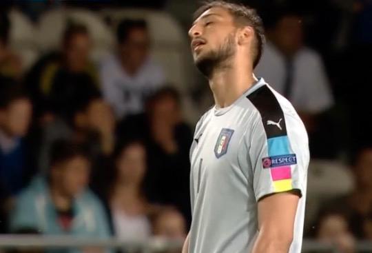 Italiens målvakt Gianluigi Donnarumma.