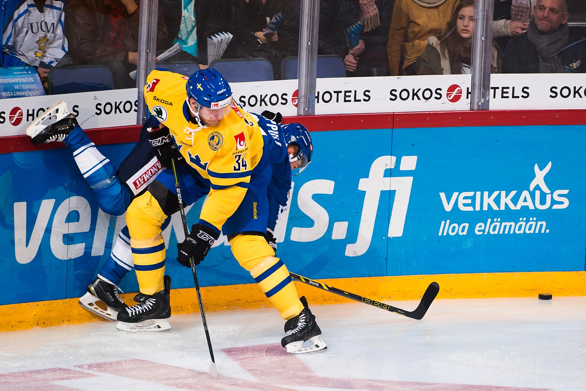 Alexander Urbom i landslgströjan.