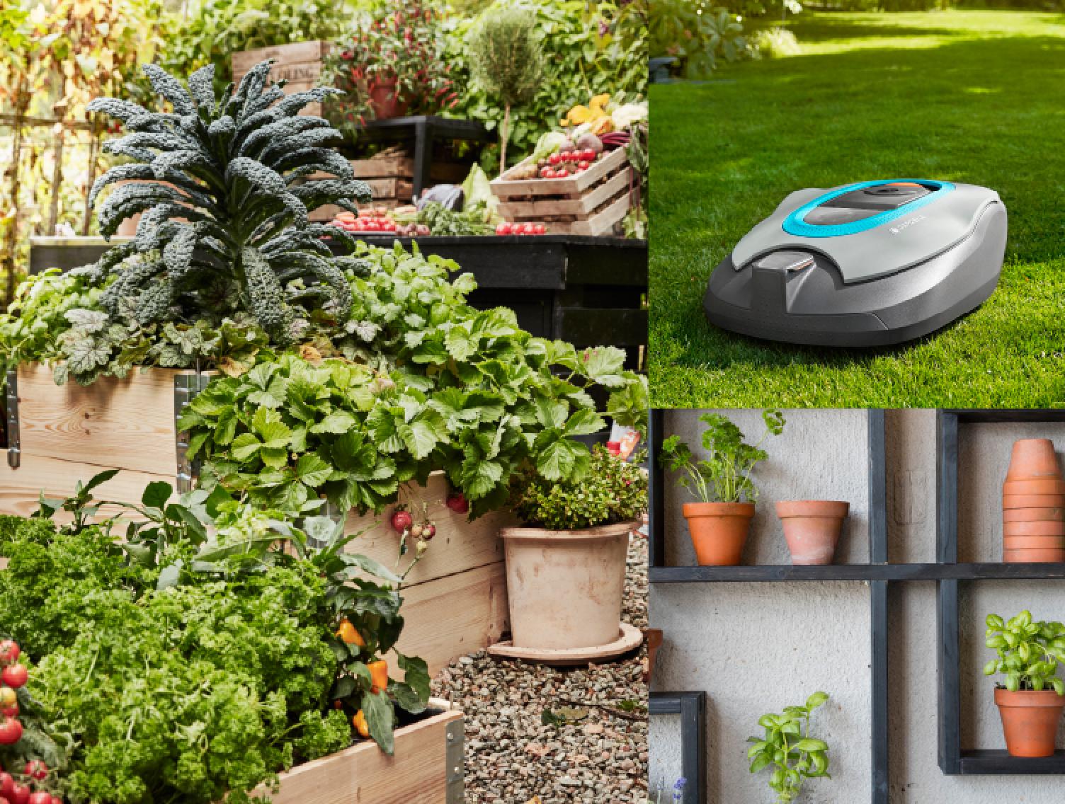 Tekniska lösningar, hemodlat och snygg inredning, det är våra trädgårdsdrömmar just nu.