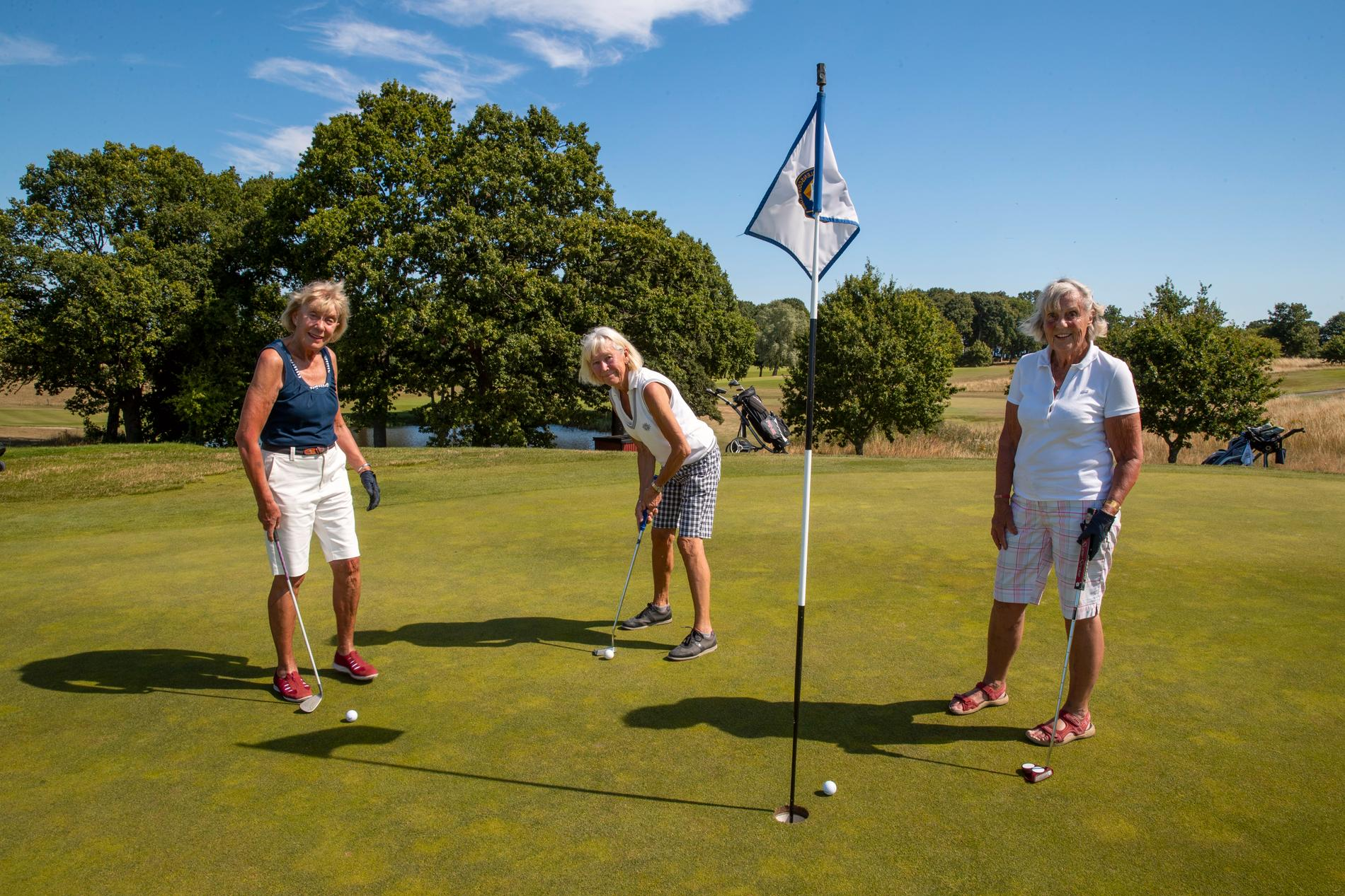 Yvonne Olefjord Sjöström (79 år), Elly Schön (76 år) och Lena Öijer (93 år).