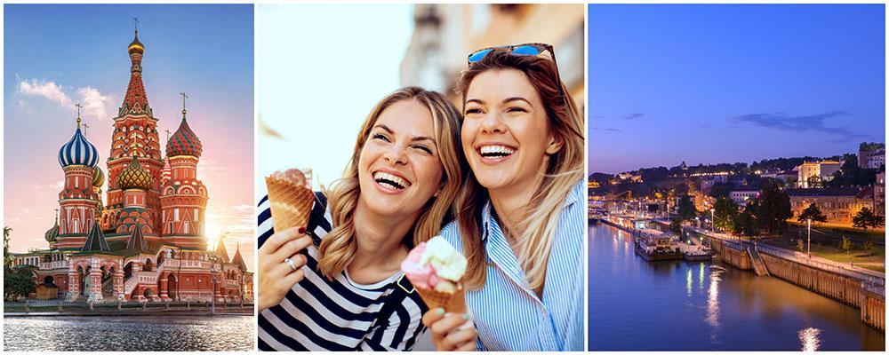 Moskva och Belgrad är två städer vi svenskar gärna besöker över en weekend.