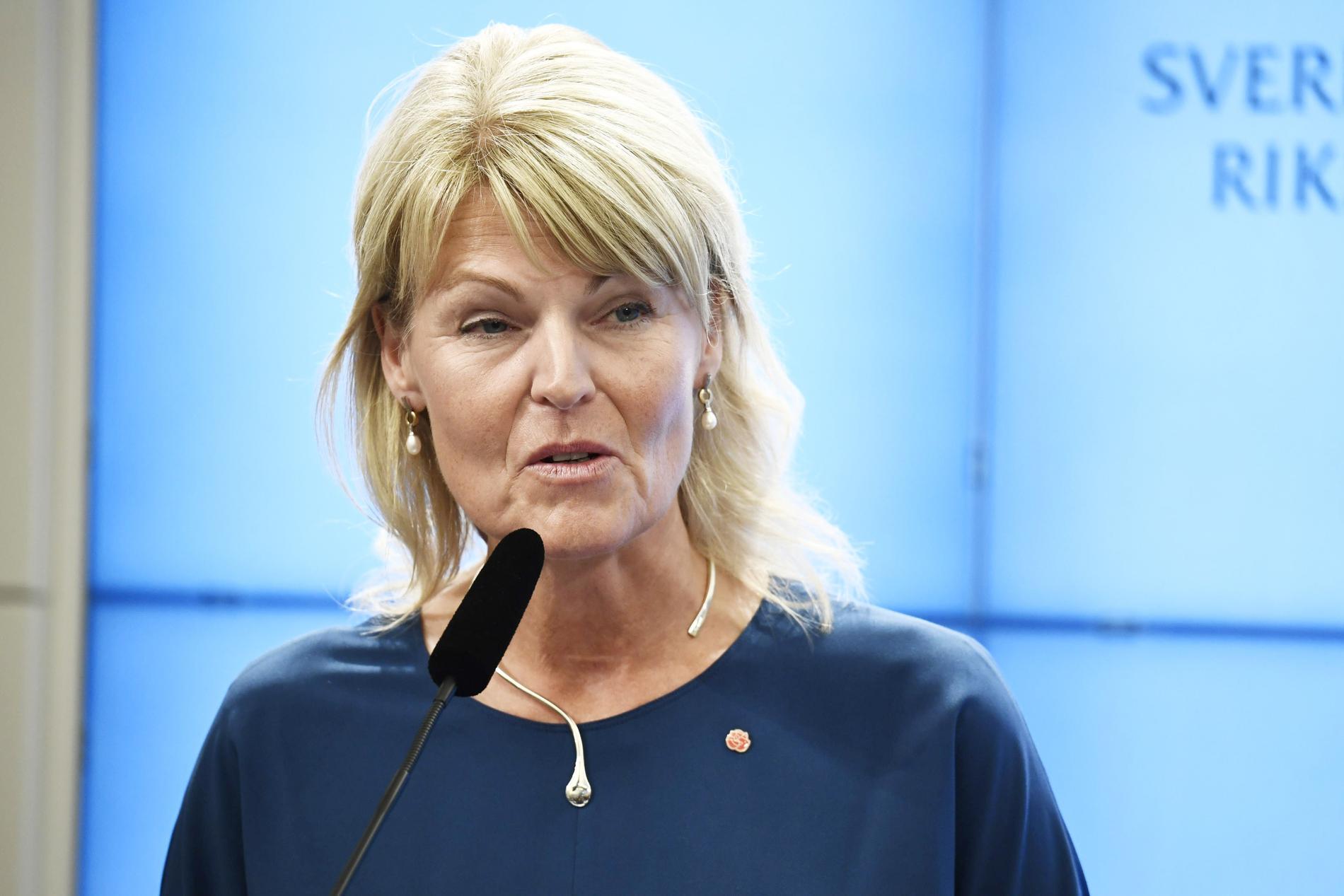 Anna Hallberg, utrikeshandelsminister