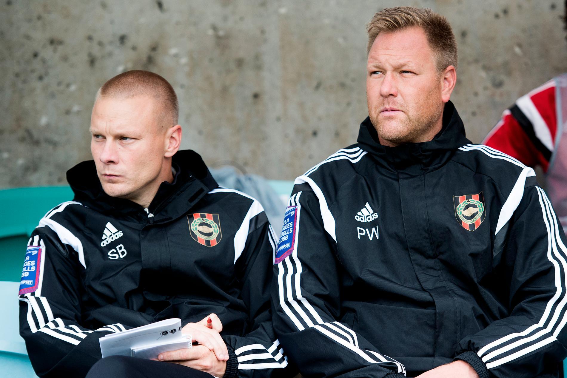 Winqvist (t.h.) var assisterande tränare i BP 2014.