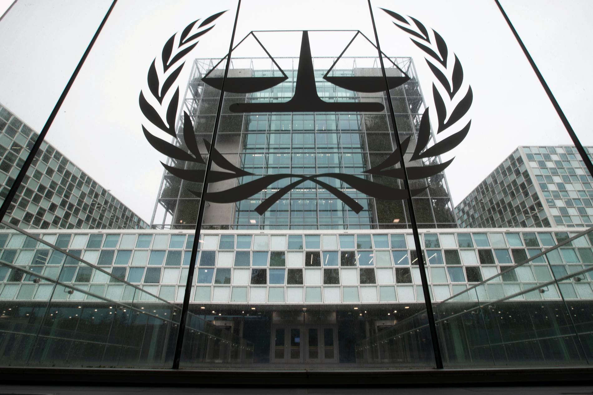 Internationella brottsmålsdomstolen i Haag i Nederländerna. Arkivbild.