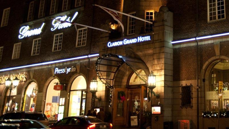 Grand Hotel i centrala Helsingborg.