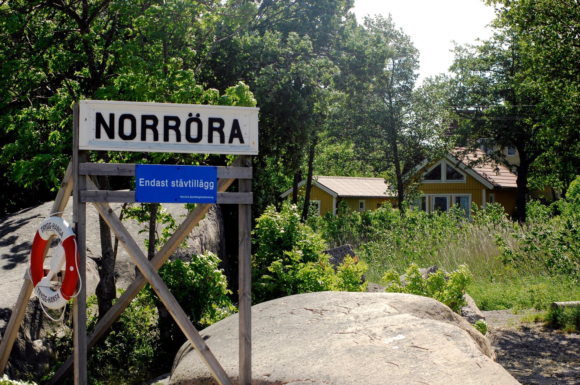 """Norröras ångbåtsbrygga, där delar av """"Saltkråkan"""" spelades in. Arkivbild."""