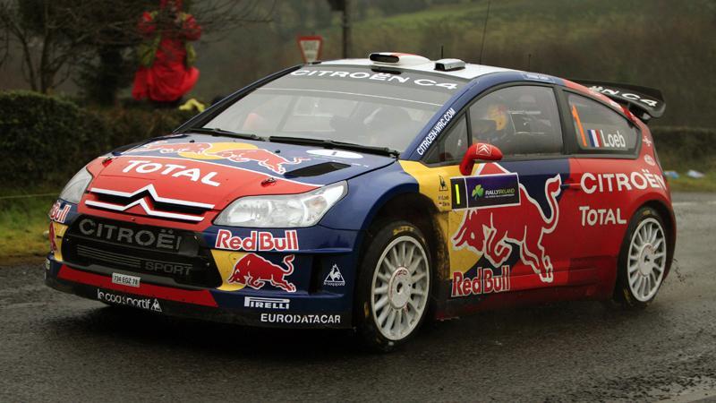 Sebastien Loeb på väg mot ny seger.