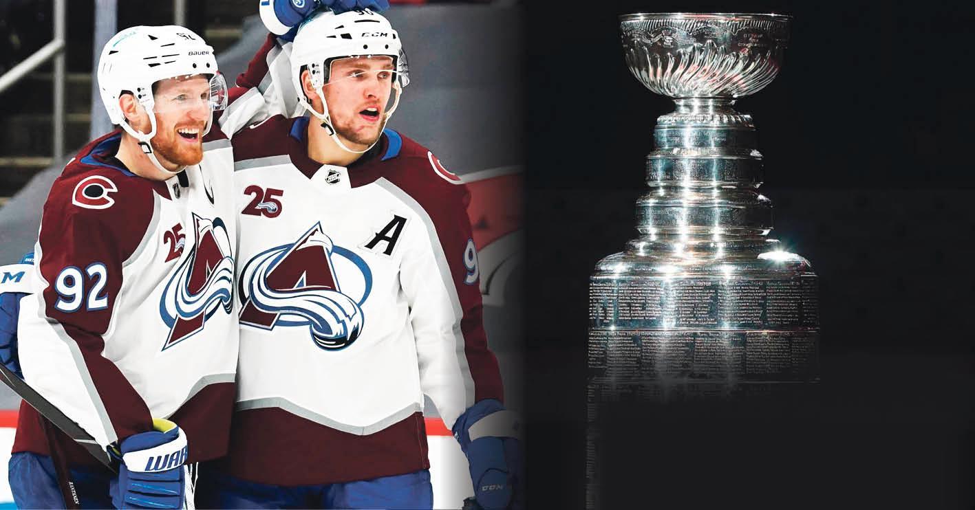 Gabriel Landeskogs och Mikko Rantanens Colorado Avalanche är ett av lagen i Stanley Cup-slutspelet 2021.