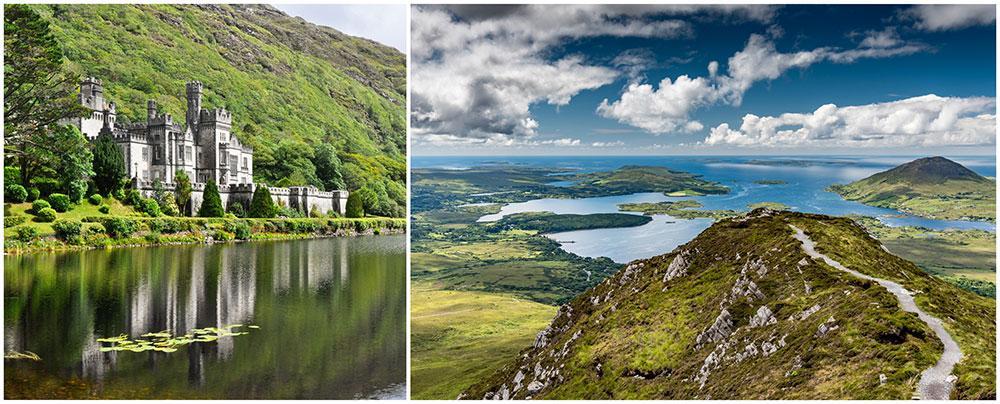 Connemara bjuder på fantastiska lanskap, slott och sjöar.