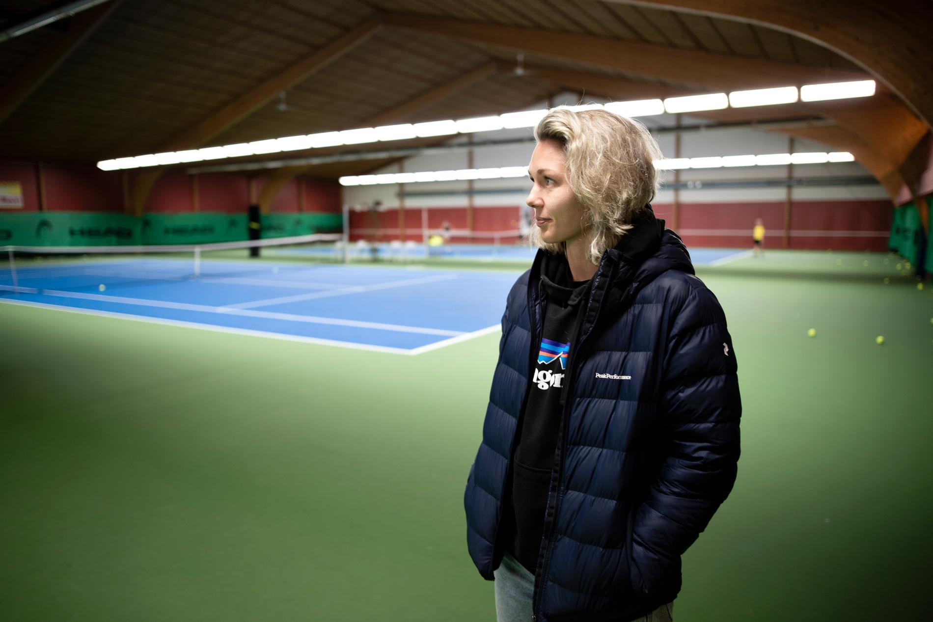 Torslanda Tennisklubb var hemmabana för Jennifer Falk i unga år.