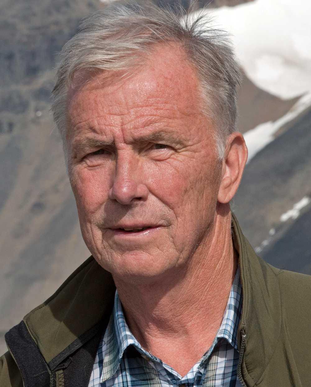 Per Holmlund, proffessor i glaciologi.