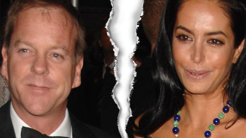 Kiefer Sutherland och Siobhan Bonnouvrier har gjort slut.