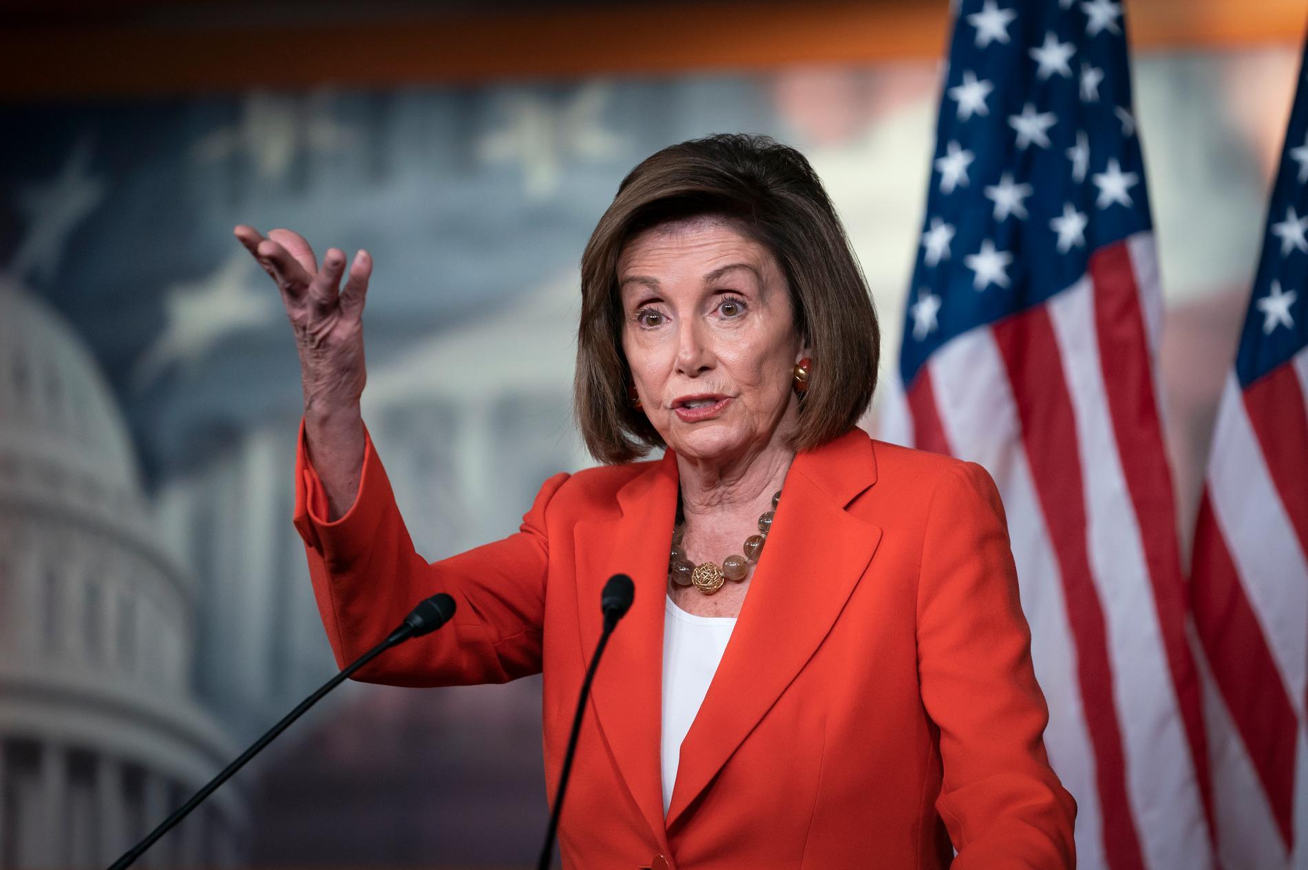 Nancy Pelosi, demokratisk talman i representanthuset.