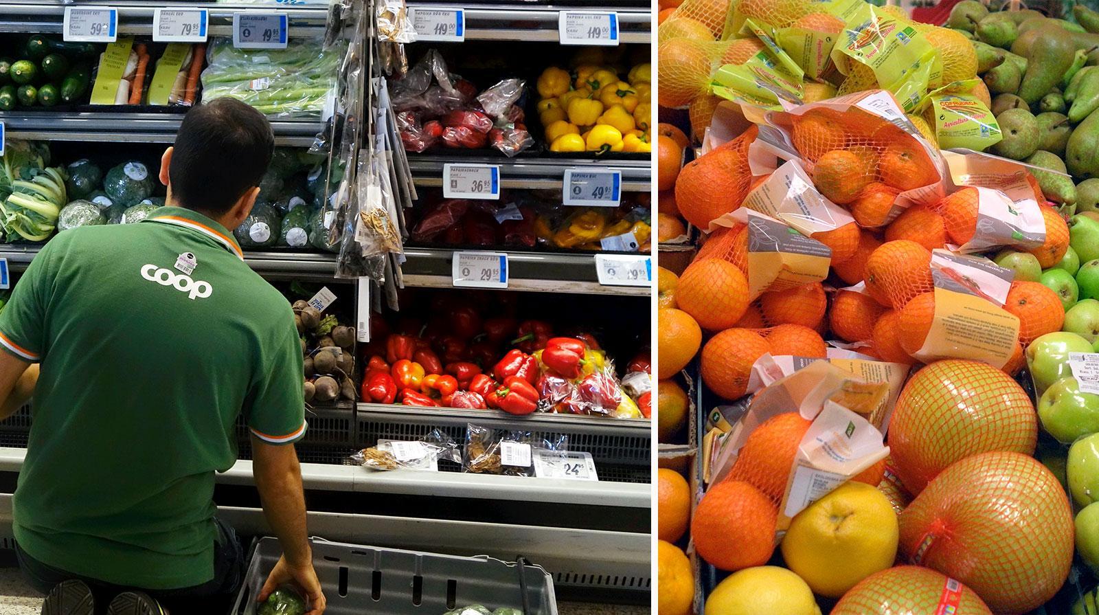 """ARKIVBILD. Mängder av frukt slängs, ofta helt i onödan. """"Man säljer mer i flerpack"""", enligt en ICA-handlare Aftonbladet har pratat med."""