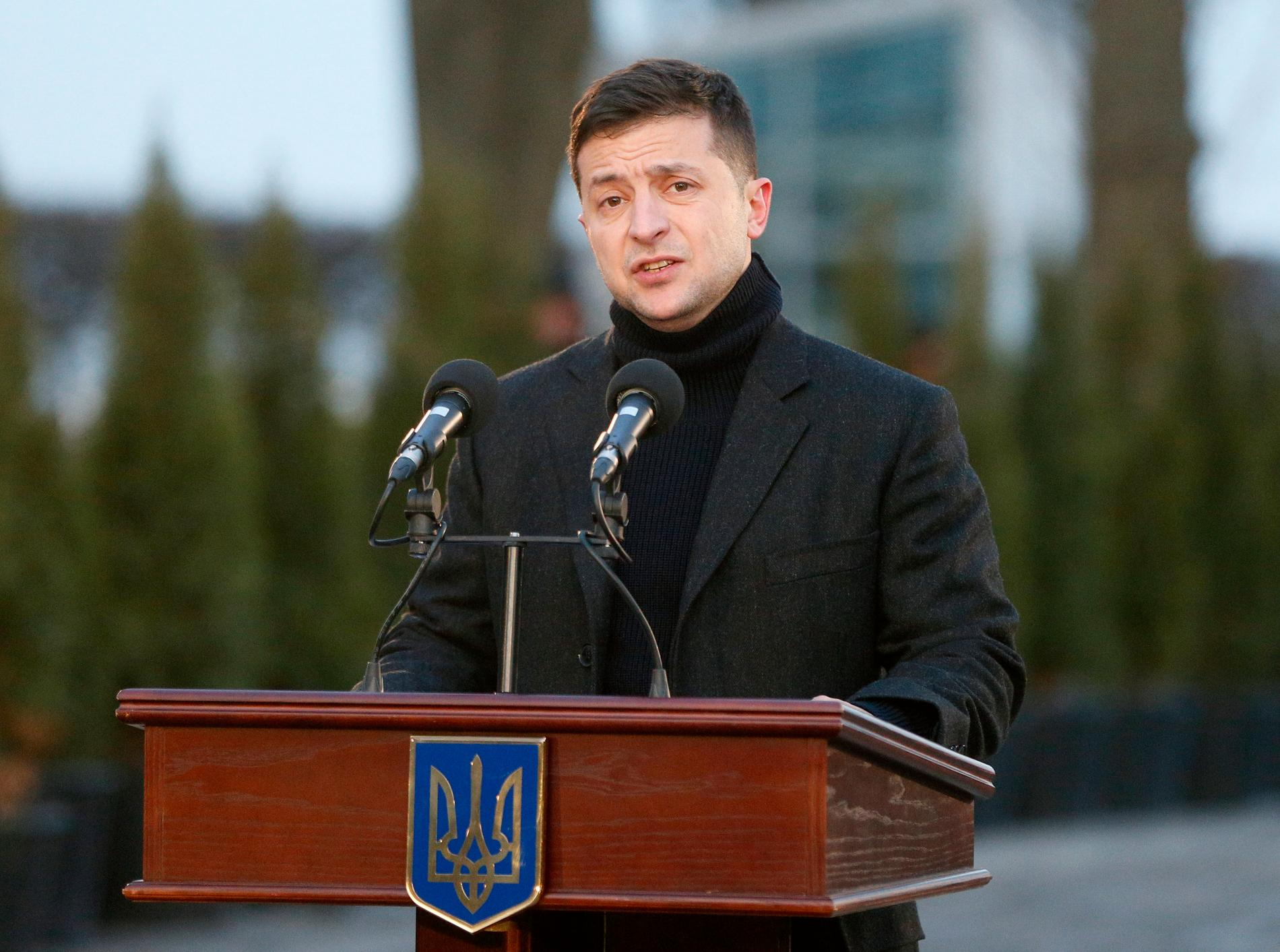 Ukrainas president Volodomyr Zelenskyj. Arkivbild.