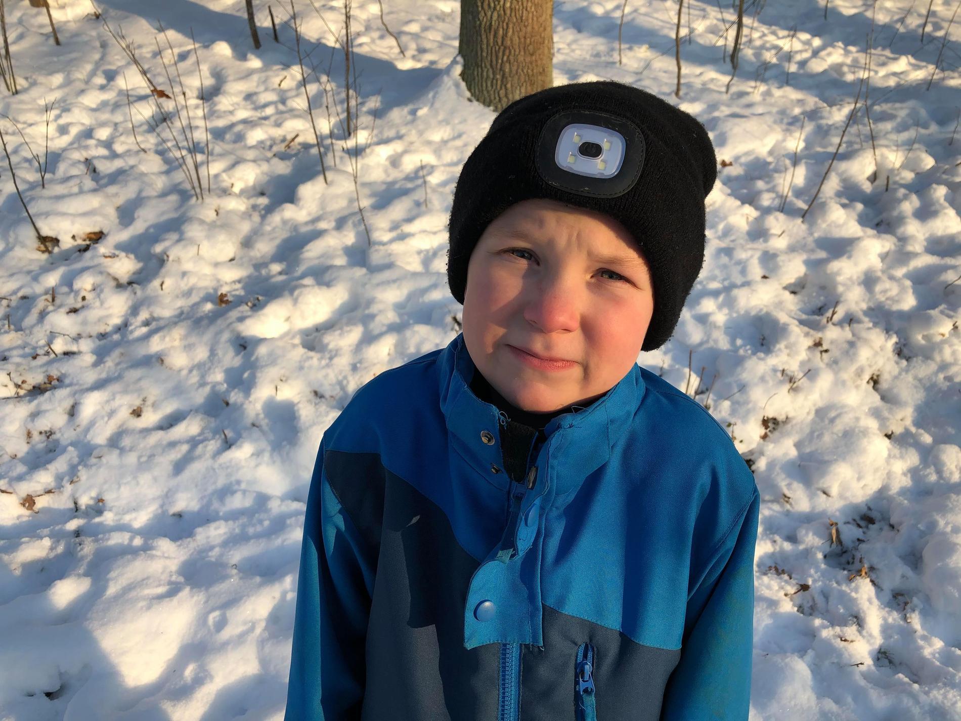 Sjuårige Adam Carlsson följde efter tjuvarna.