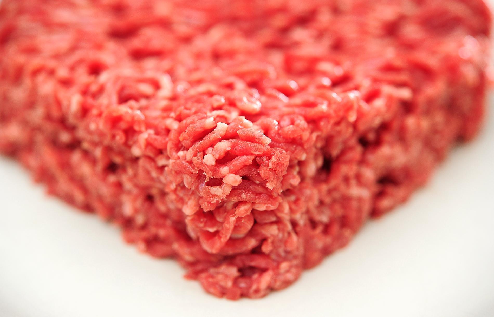 Salmonella har hittats i nötfärs från Lidl. Arkivbild.