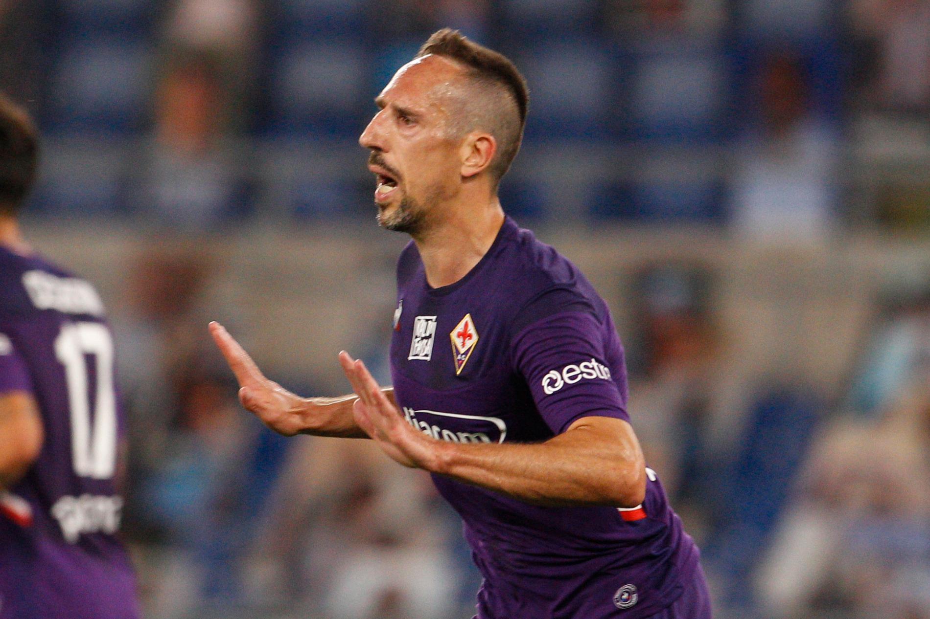 Franck Ribéry i Fiorentina-tröjan.