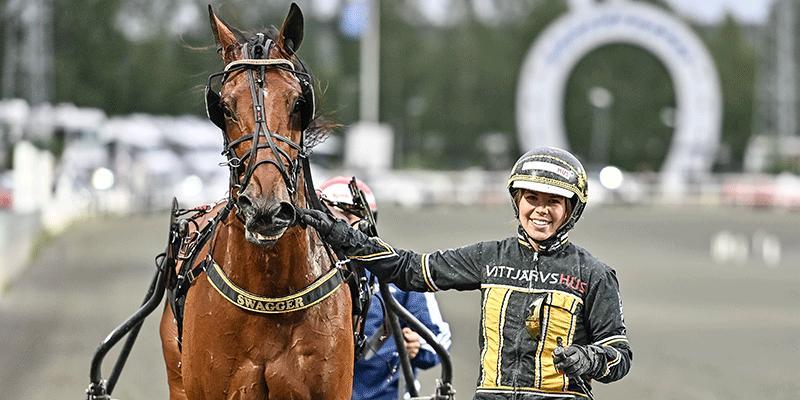 Sandra Eriksson och Swagger har den senaste tiden charmat den svenska travpubliken.