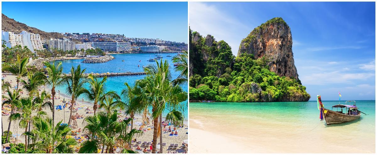 Gran Canaria eller Thailand – svenskarnas favoritresmål kan komma att ändras.