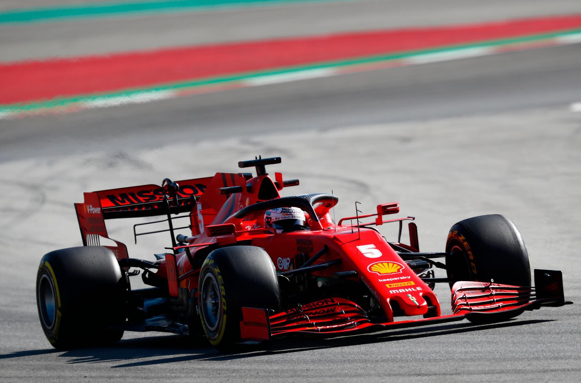 Vettel lämnar.