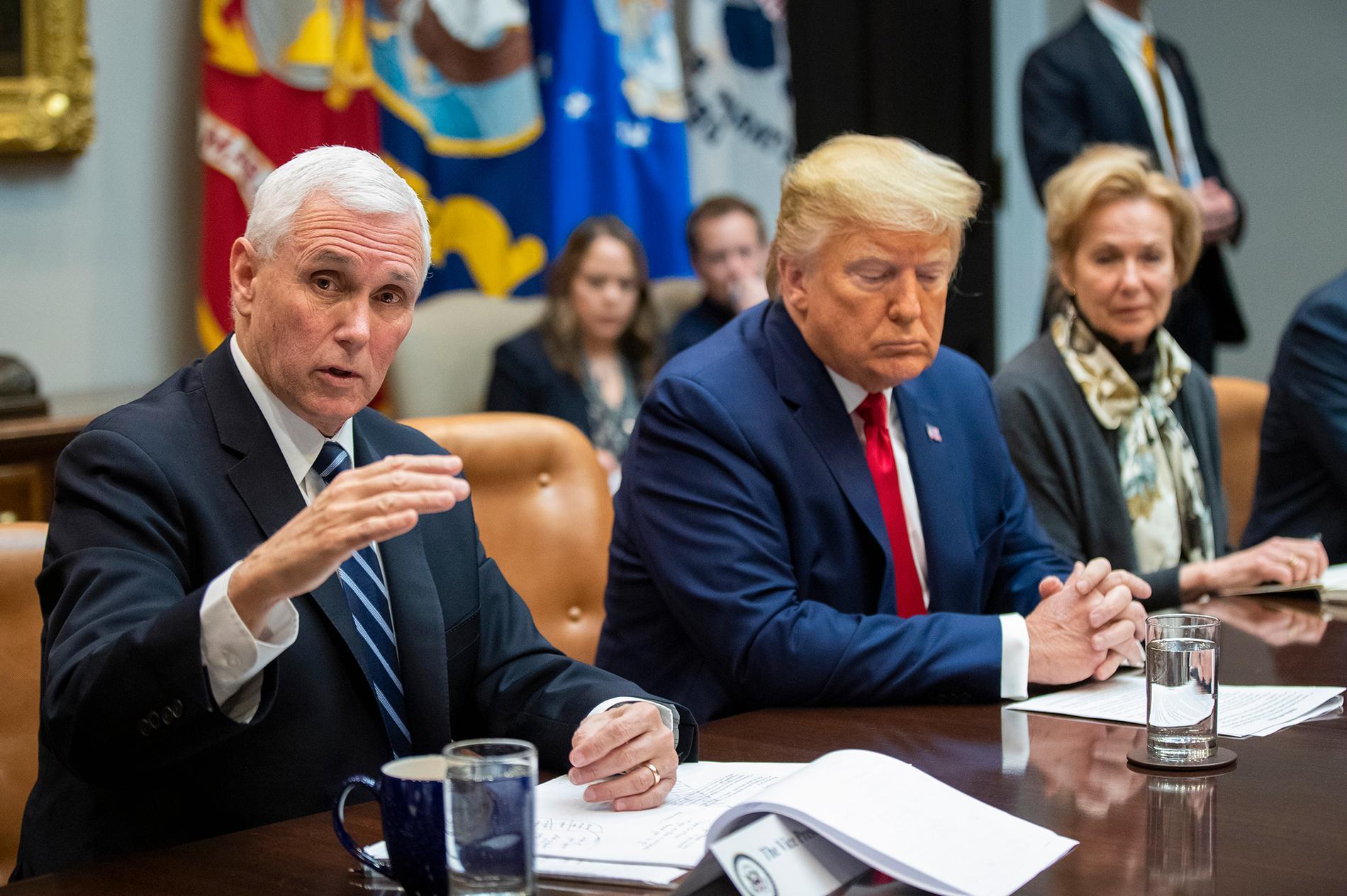 Mike Pence tillsammans med Donald Trump.