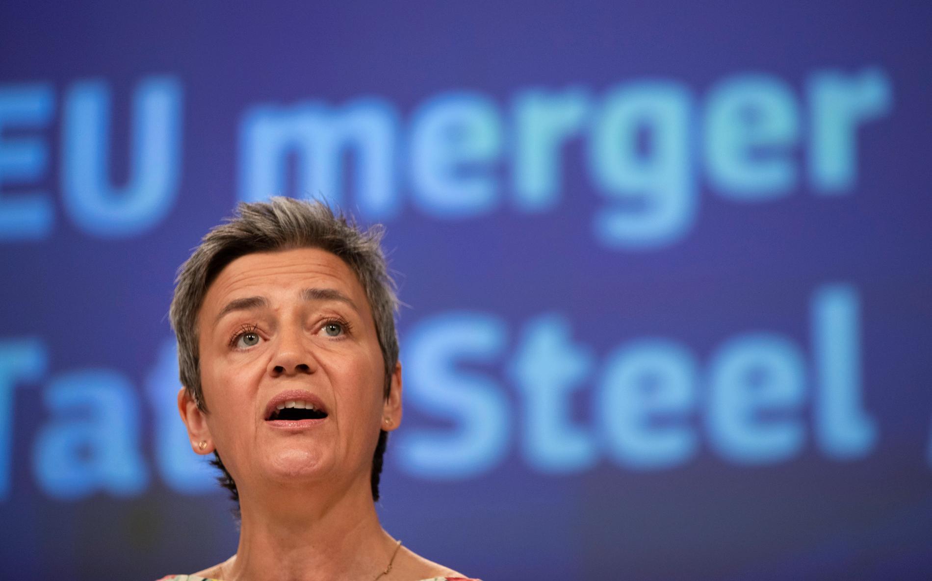 Margrethe Vestager, EU:s kommissionär för konkurrensfrågor, meddelar att EU kommer att utreda finansieringen av tunnelprojektet mellan Danmark och Tyskland. Arkivbild.