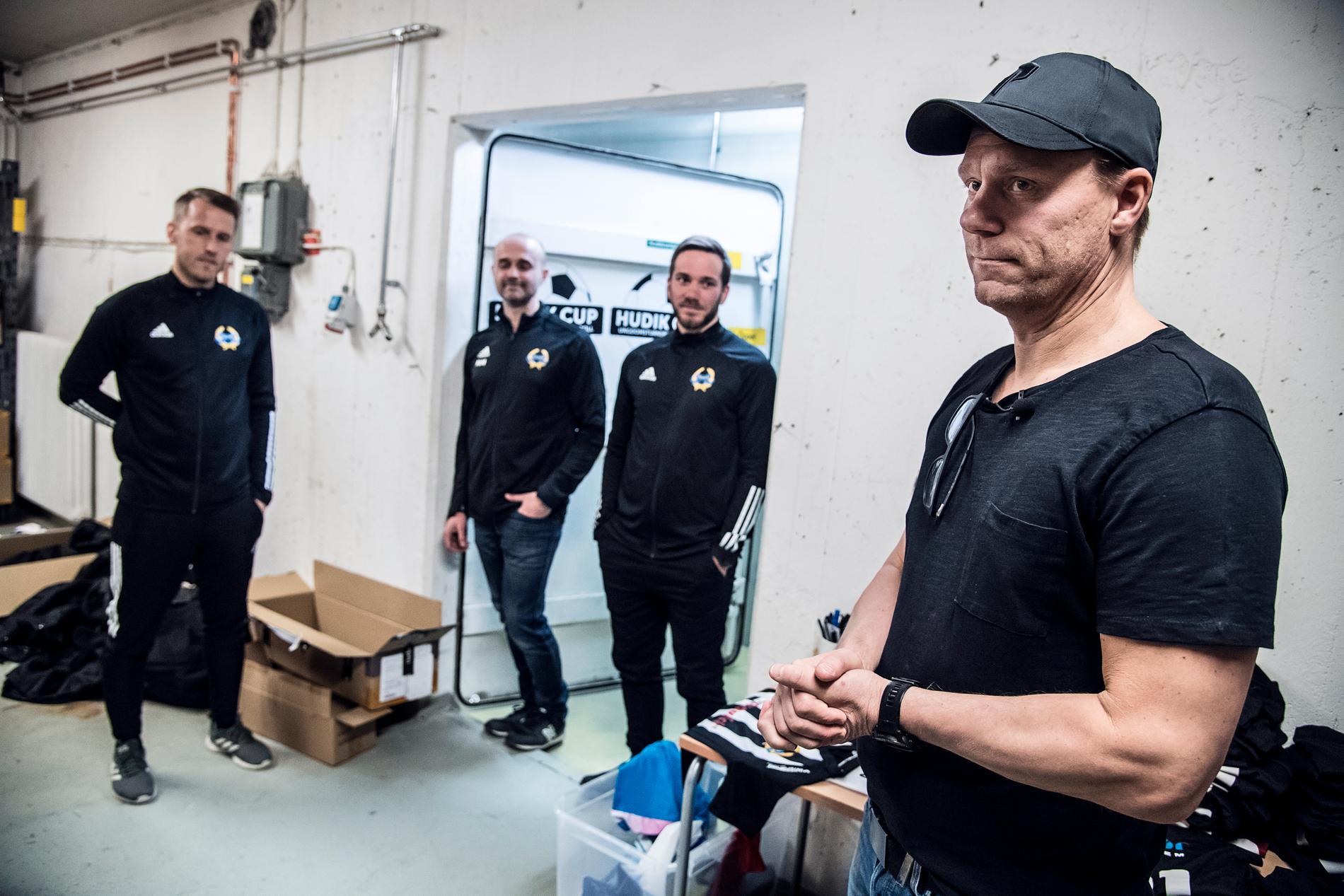 Patrik Hedman, verksamhetsansvarig, Meho Medic, ledamot i styrelsen, Olof Forsvik och Fredrik Sundfors.