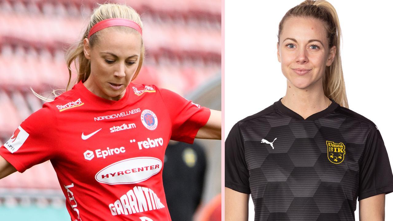 Kayla Braffet har spelat i Lidköping, Kif Örebro och nu Umeå.