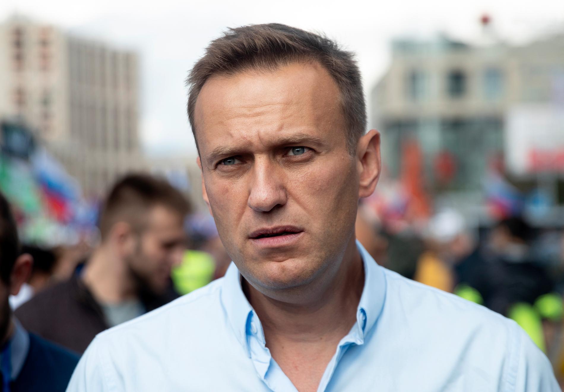 Ryska tillsynsmyndigheten har blockerat en hemsida som tillhör oppositionsledaren Aleksej Navalny. Arkivbild.