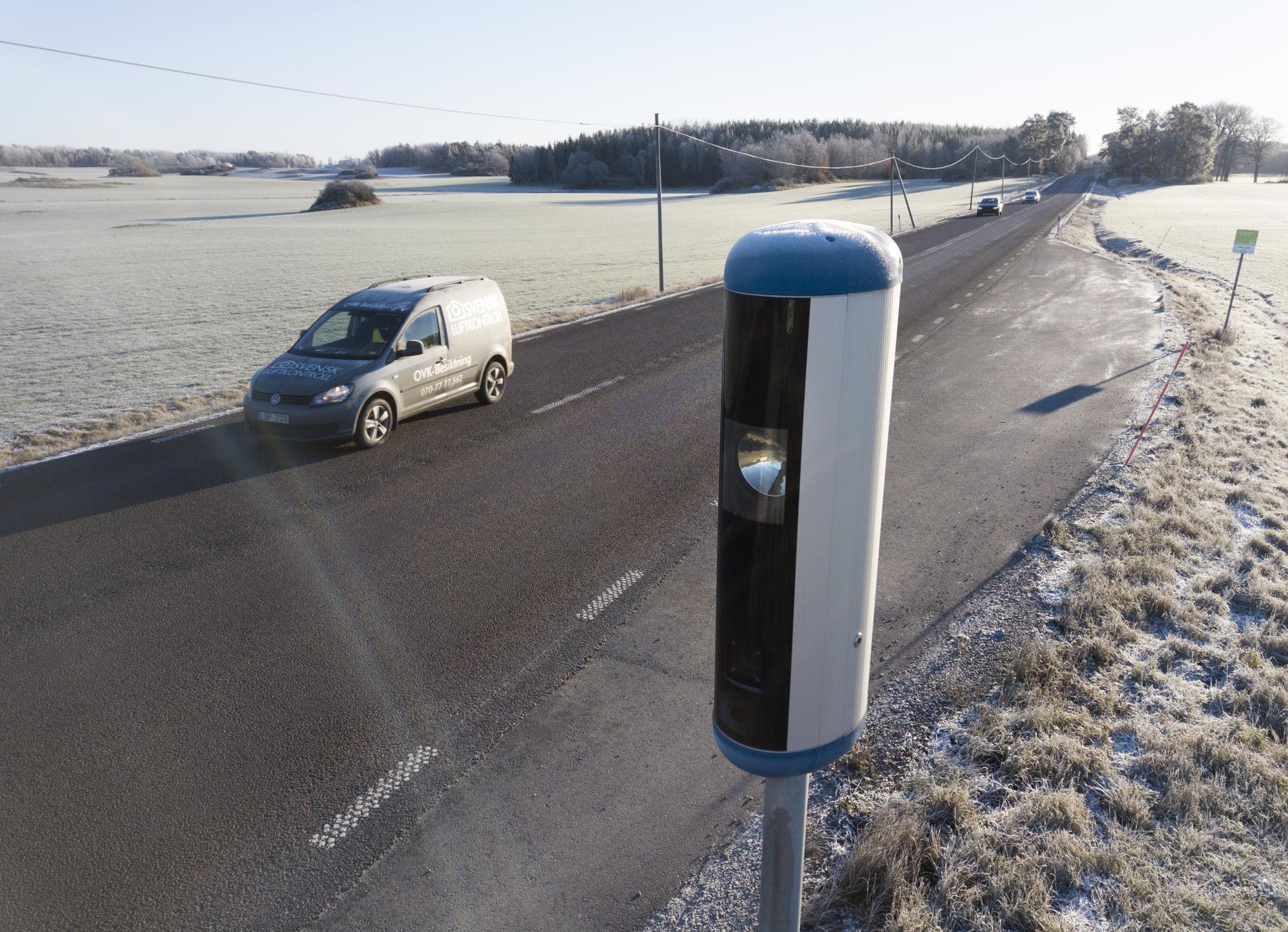 På väg 55 mellan Enköping och Strängnäs finns en av 18 fartkameror i länet.