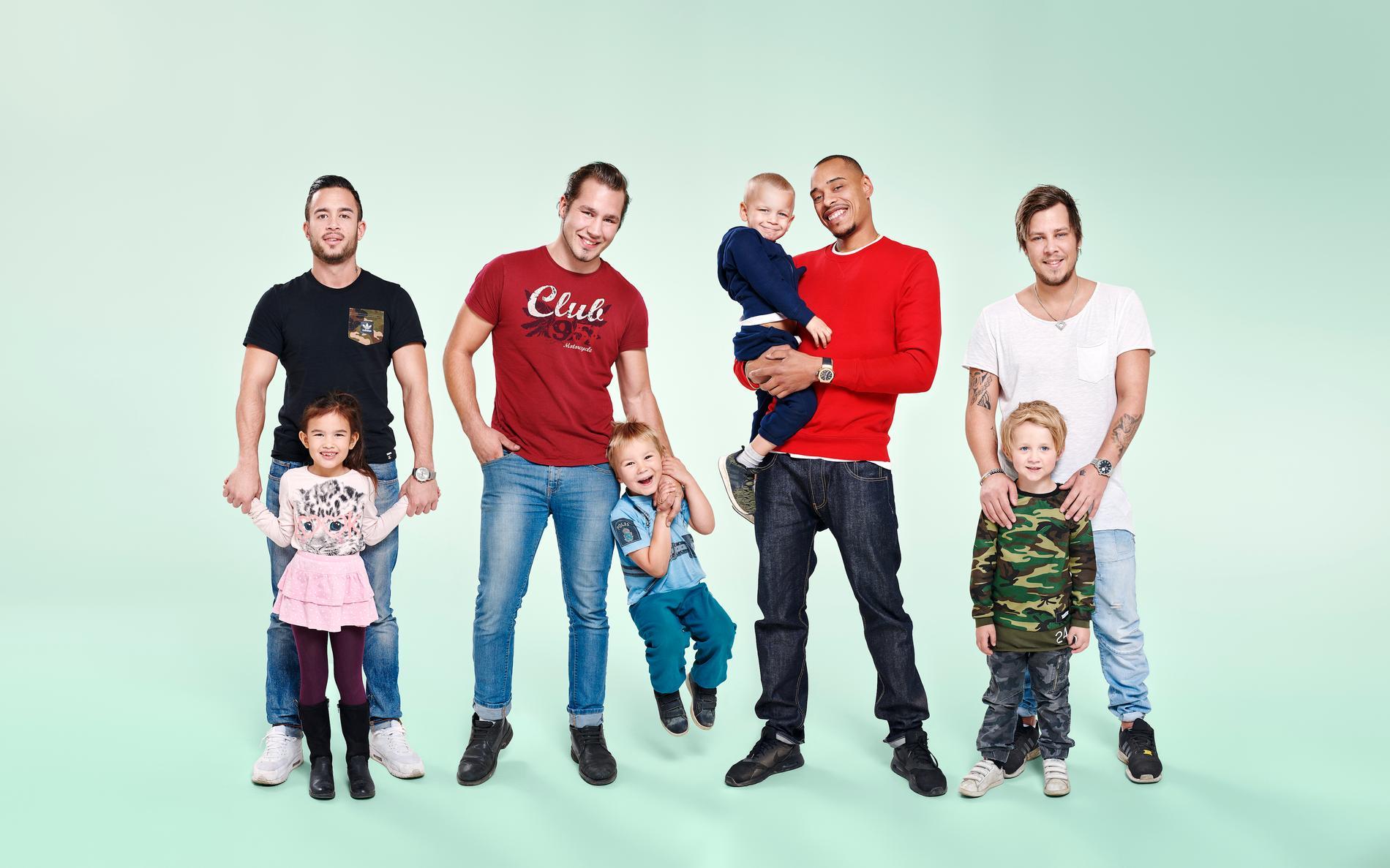 """Här är papporna som är med i programmet """"Pappaliv""""."""