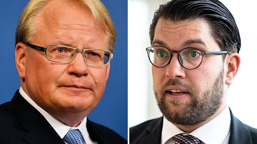 """Peter Hultqvist har fått kritik för att ha använt uttrycket """"Hur mycket man än sminkar en gris så är det en gris"""" när han beskrev SD. """"Partiets ledning sätter som vanligt på sig offerkoftan och blir kränkt"""", skriver Hultqvist i dag."""