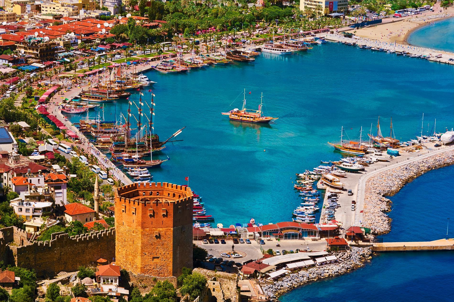Turkiet ökar i popularitet, och Alanya lockar flest svenskar.