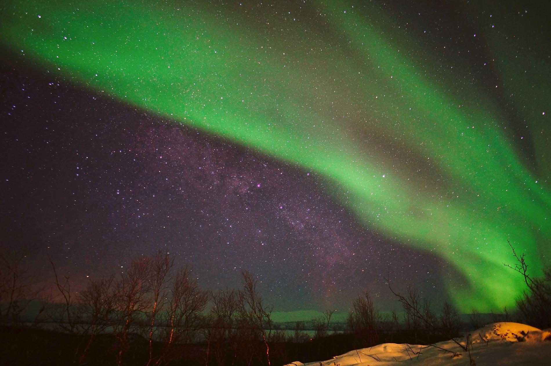 I Abisko kan himlen se ut såhär.