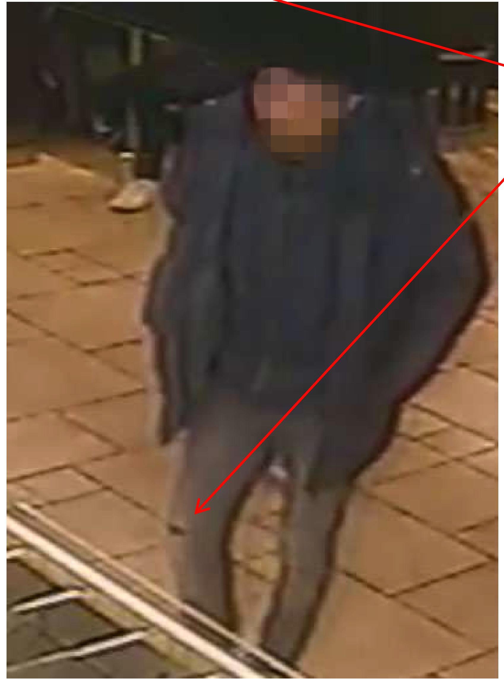 Misstänkte gärningsmannen på McDonalds.