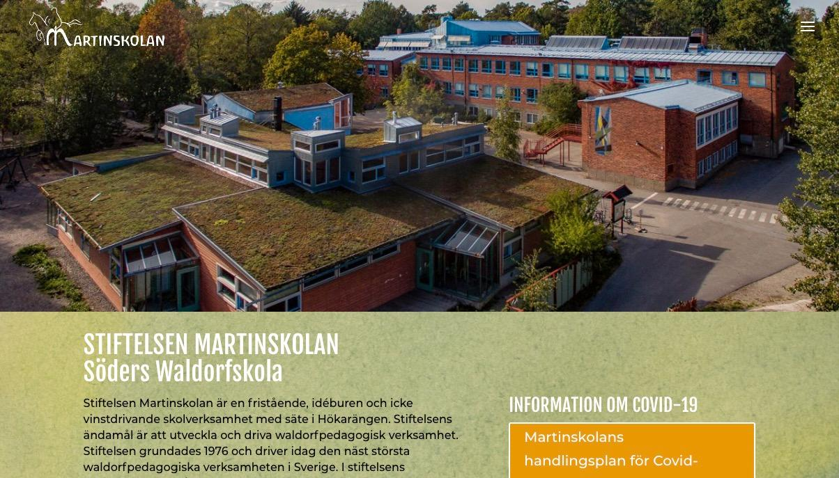 Så här presenteras Martinskolan på skolans hemsida.