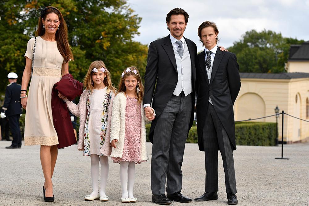 Patrick Sommerlath är prins Julians gudfar. Här tillsammans med ex-frun Maline och döttrarna Chloé och Anaïs och sonen Leopold.