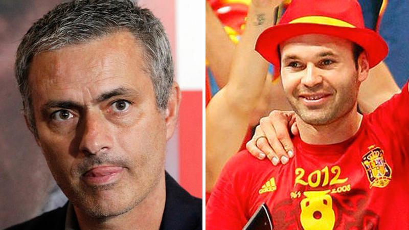 Mourinho och Iniesta