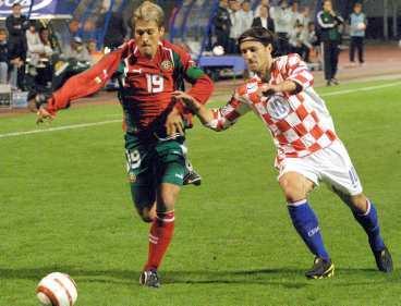 Bulgariens Petrov missar mötet mot Kroatien i dag.