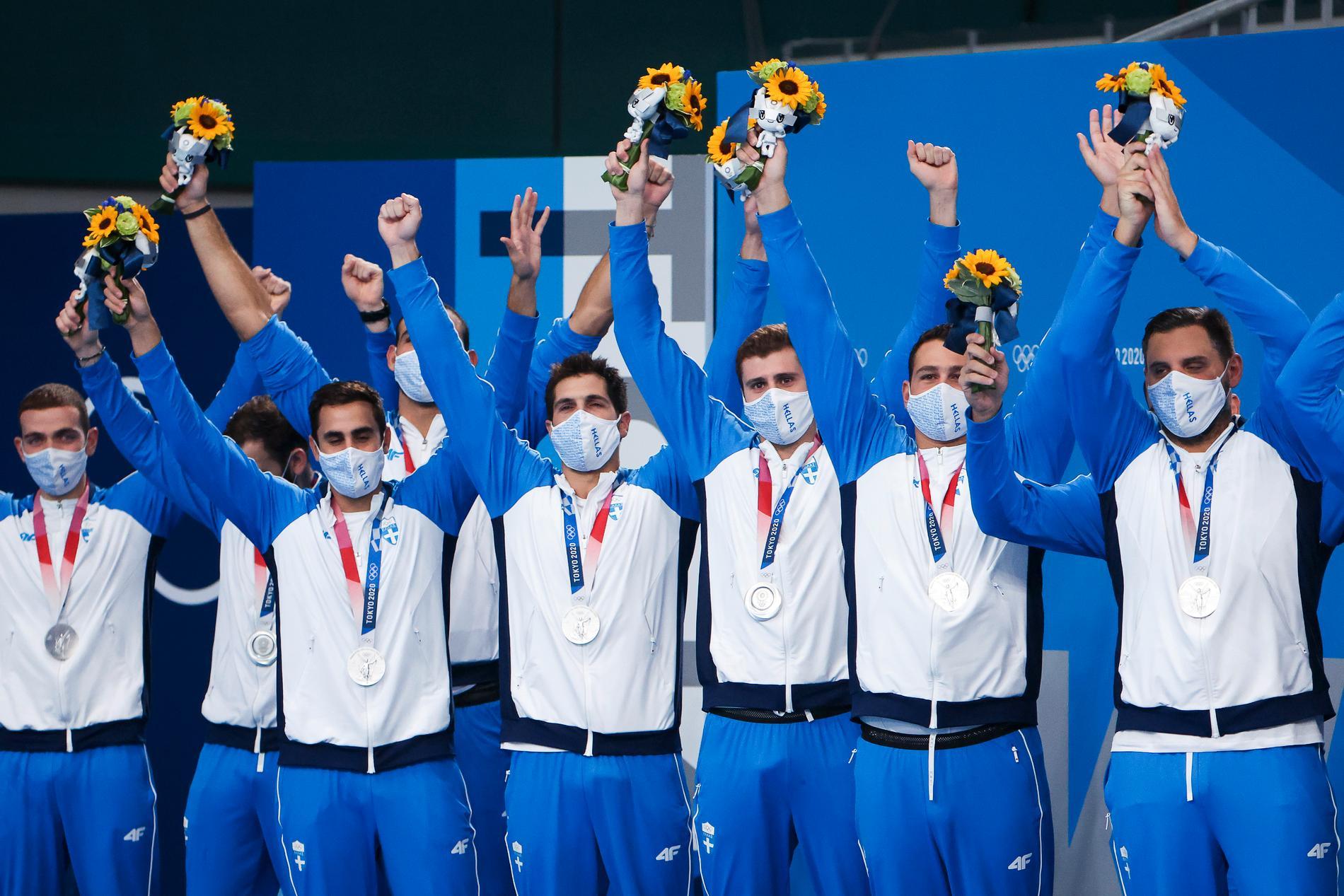 Greklands landslag i vattenpolo.