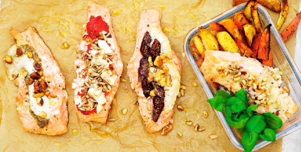 Lax i matlåda är gott, här är fyra olika varianter.