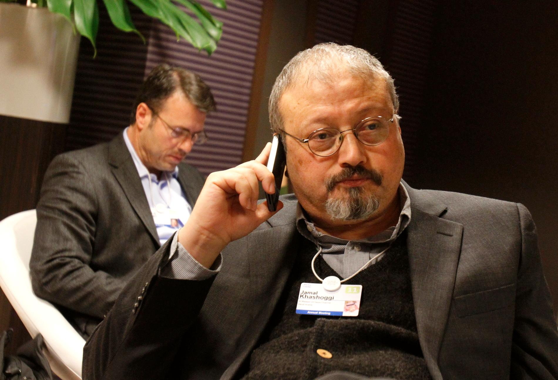 Jamal Khashoggi vid Världsekonomiskt forum i Davos 2011. Arkivbild.