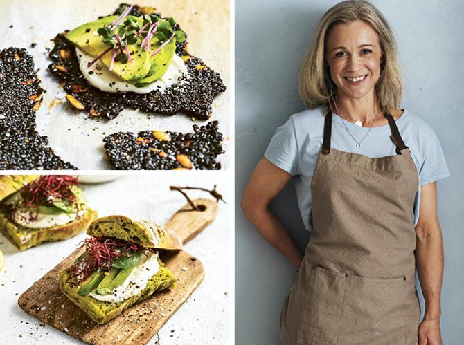 Bröd med svarta linser och spenat i degen. Lina Wallentinson tipsar om bröd med grönsaker.