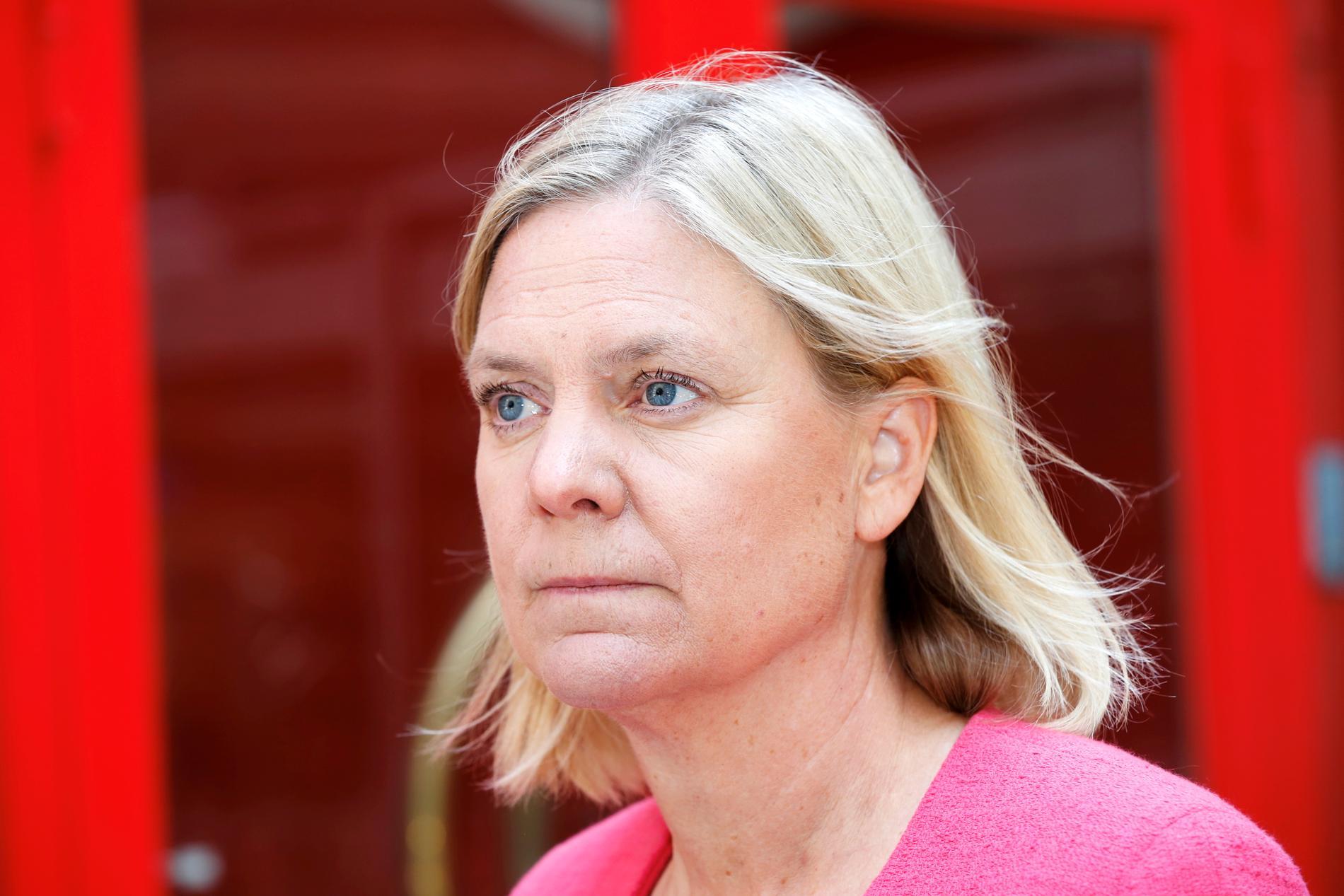 Finansminister Magdalena Andersson (S) har 74 miljarder att spendera på n förslag i budgeten för 2022. Arkivbild.