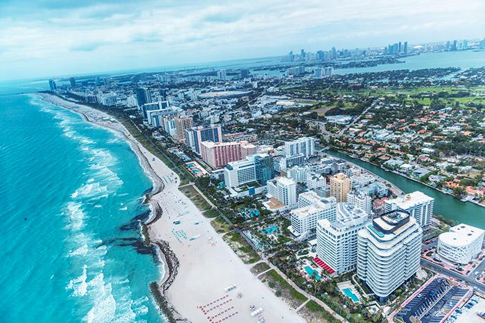 South Beach i Miami rankas som en av USA:s vackraste stränder.