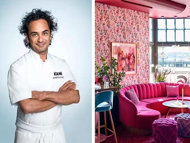 Markus Aujulays restaurang Tegelbacken är klädd i rosa.