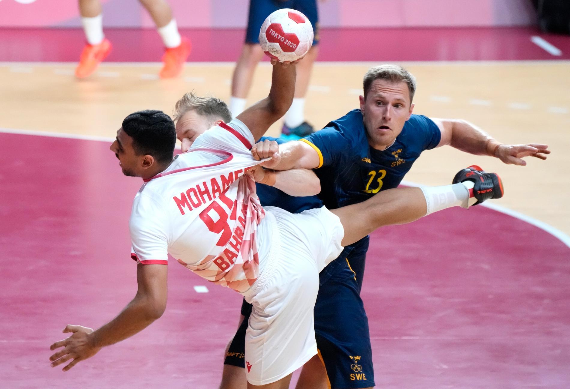 Albin Lagergren i matchen mot Bahrain.