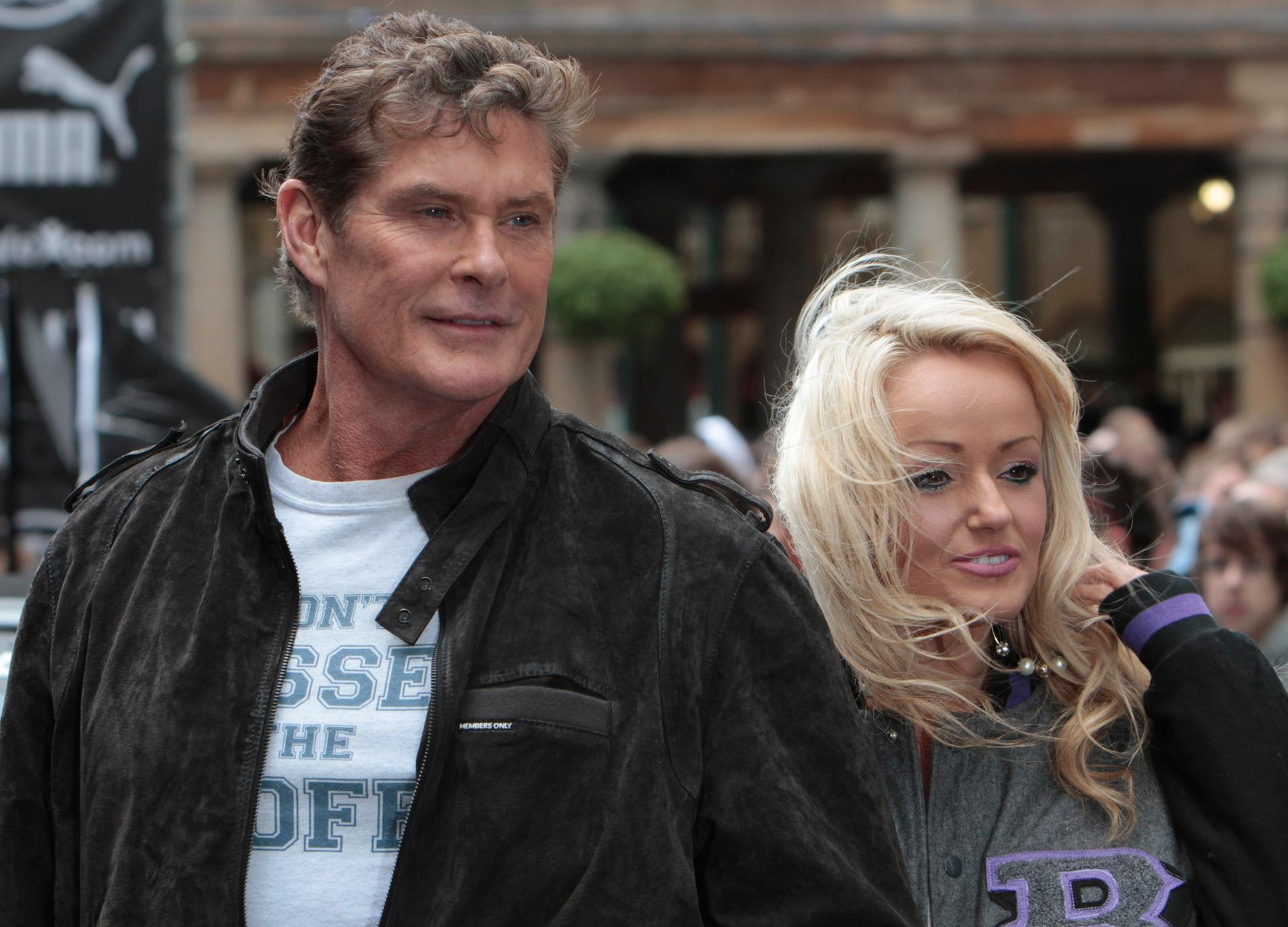 David Hasselhoff och flickvännen Hayley Roberts.